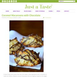 Coconut Macaroons with Chocolate Recipe
