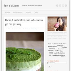 Coconut mint matcha cake and a matcha gift box giveaway