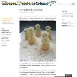 coconut mochi snowmen