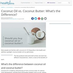 Coconut Oil vs. Coconut Butter: Benefits
