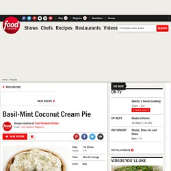 Basil-Mint Coconut Cream Pie Recipe