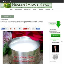 Coconut Oil Body Butter Recipes with Essential Oils