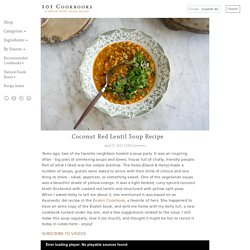 Coconut Red Lentil Soup Recipe