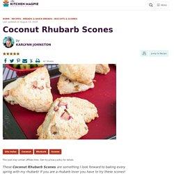 Coconut Rhubarb Scones