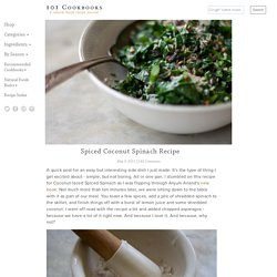 spinach spiced coconut spinach coconut spiced spinach recipe spiced ...