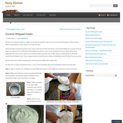 Coconut Whipped Cream « Nutty Kitchen