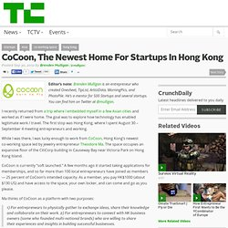 CoCoon, The Newest Home For Startups In Hong Kong