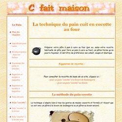 Miche de pain - cocotte, méthode d'Animo pour réussir facilement le pain au four