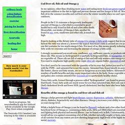 Cod liver oil, fish oil and Omega 3