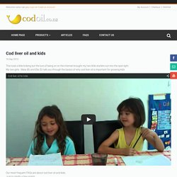 Cod liver oil and kids