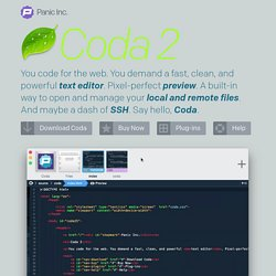 Coda - One-Window Web Development for Mac OS X