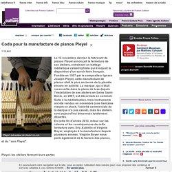 Coda pour la manufacture de pianos Pleyel