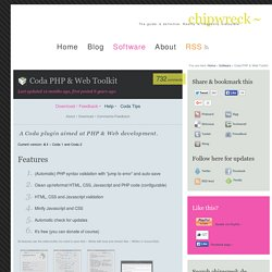 Coda PHP & Web Toolkit // chipwreck