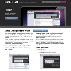 Codafy RapidWeaver Plugin by NimbleHost