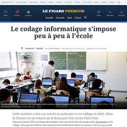 Nov. 2016 Le codage informatique s'impose peu à peu à l'école- Le Figaro