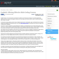 Codakid: Offering Effective Kids Coding Courses