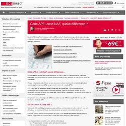 Code APE, code NAF, quelle différence ?