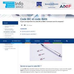 Code BIC et code IBAN