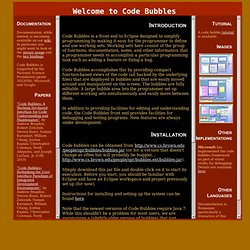 Code Bubbles Home Page