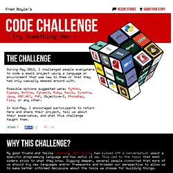 Code Challenge - Try something new