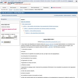 Code de commerce - Article R225-105-1