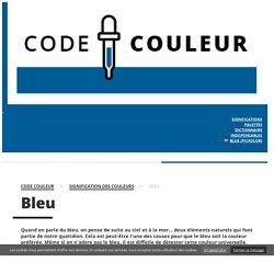 Signification du bleu