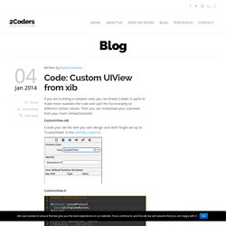 Code: Custom UIView from xib