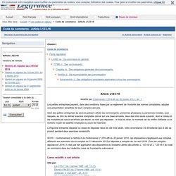 Code de commerce - Article L123-16
