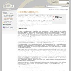 Code de déontologie de l'ICOM - icom-france