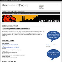 Code Rush Download | Click Movement (dot) org