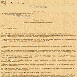Code de Droit Canonique - IntraText