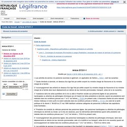 Champs d'action services à la personne. Code du travail - Article D7231-1