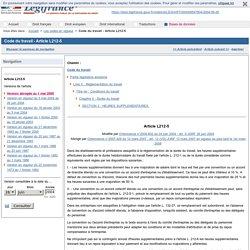 Code du travail - Article L212-5