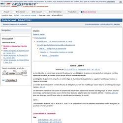 Code du travail - Article L2314-1