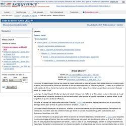 Code du travail - Article L6323-11
