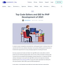 Top Code Editors and IDE for PHP Development of 2017
