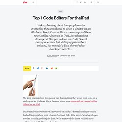 Top 3 Code Editors For the iPad