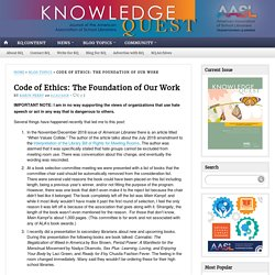 Code of Ethics: The Foundation of Our Work