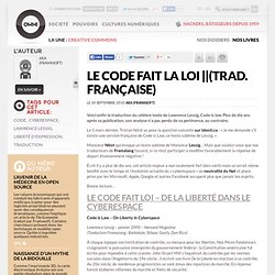 Le code fait la loi (trad. française) » Article » OWNI, Digital Journalism