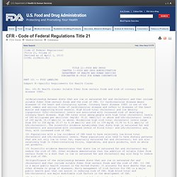 CFR - Code of Federal Regulations Title 21