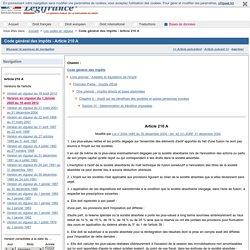 Code général des impôts - Article 210 A