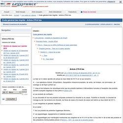Code général des impôts - Article 278-0 bis