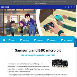 Code on the go with Samsung & micro:bit