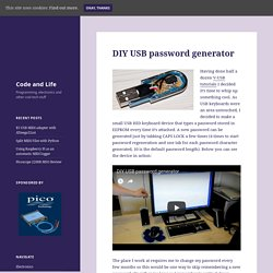 DIY USB password generator » Code and Life