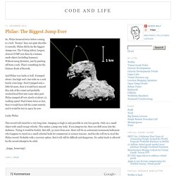 Code and Life: Philae: The Biggest Jump Ever