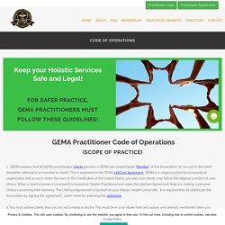 GEMA Practitioner Code of Operations - Licensed Ecclesiastical Practitioner Scope