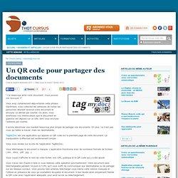 Un QR code pour partager des documents