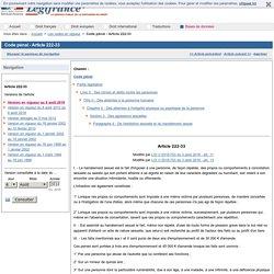 Code pénal - Article 222-33