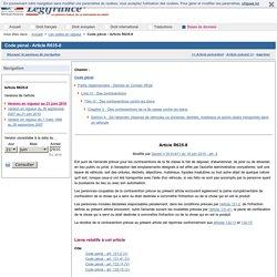 Code pénal - Article R635-8