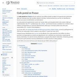 Code postal en France